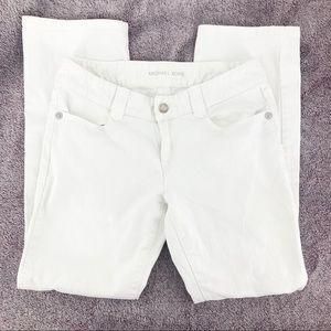 Michael Kors Wide Leg Jeans with Flap Pockets